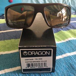 NIB Dragon Sunglasses Vantage Coffee polarized